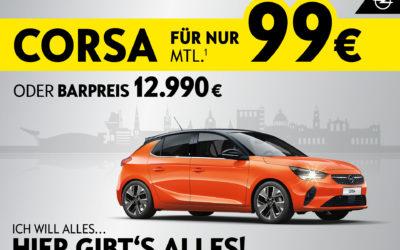 Ich will alles – hier gibt's alles: Opel Corsa