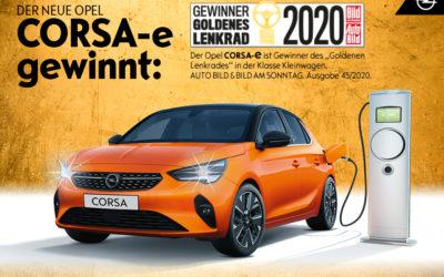 """Der Opel Corsa-e gewinnt das """"Goldene Lenkrad 2020″"""